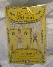 New listing Enchanted Dolls' House Paper Doll Lucinda Wedding Costumes Robyn Johnson - Rare