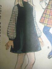 Vintage McCall's 9519 BIAS COLLAR DRESS w/ PLASTRON Sewing Pattern Girl Size 12