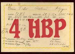 CARD  CARTE  QSL  radio amateur   BELGIQUE     1932     ( 4 )
