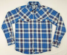 Salomon Mens L Womens XXL Long Sleeve Flannel Button Up Advanced Skin Active Dry