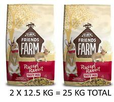 Supreme Russel Rabbit Complete Balanced Diet Muesli Cage Food Feed 2 X 12.5 Kg