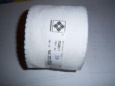 Stickband Aidastoff weiß mit weißen Rand 5 cm Breite 7107/1