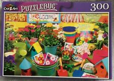 Old Fashioned Colorful Garden Time Plant Tool Puzzlebug Picture Puzzle 300pc NIB