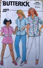Girls Shorts Pattern Butterick 3839 Girls Shirt Shorts Pants Pattern Size 7-10
