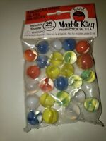 Vintage Bag Marble King Marbles New Unopened Bag 25 plus shooter NOS
