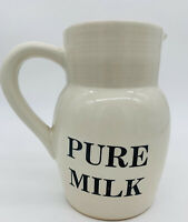 Vintage Anthropologie Ceramic Milk Jug Made In Portuugal