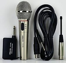 Hisonic HS308L Portable Wireless and Wired 2 in 1 Microphone for Home Stage Use