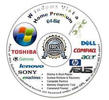 Windows Vista Home Premium 64-Bit Install Boot Repair Recovery DVD CD Disc Disk