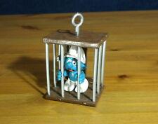 Smurfs Jail Prisoner Super Smurf Cage Rare Vintage Toy Figure PVC Figurine 40212