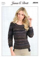 Ladies Sweater JB248 Knitting Pattern in James C Brett Marble Chunky