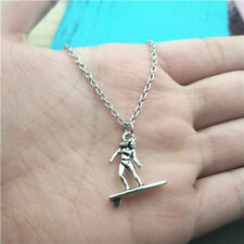 Surfing sport silver Necklace pendants fashion jewelry accessory,creative gifts