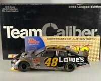 Team Caliber Jimmie Johnson #48 Lowe's 2003 Monte Carlo Dark Chrome 1/24