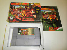 DONKEY KONG COUNTRY COMPLETE manual SUPER NINTENDO SNES GAME NES HQ BOX #B