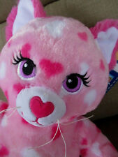 "New Build a Bear 16"" Hug-able Hearts Pink Kitty Cat 2014 Tags"