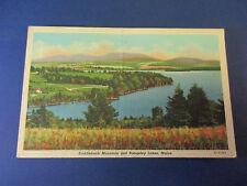 Saddleback Mnt. And Rangeley Lakes, Maine Vintage Colorful Postcard Unused Pc14