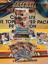 2018 Bowman Chrome Baseball Factory Sealed Hobby (3) Pack Lot! Ohtani? Acuna?
