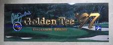 "GOLDEN TEE  97 GOLF   26 - 1/2"" arcade game sign marquee cF36"