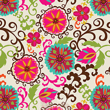 """Happy Flower Gift Wrap Tissue Paper 20"""" by 30"""""""