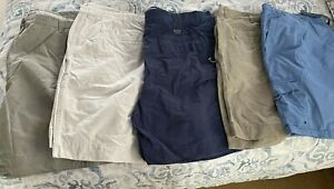 "LOT of 4 Columbia  8"" Cargo Style Shorts ~Size 50~& 1 3XL Swim Trunks"