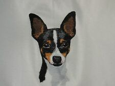 Embroidered Short-Sleeved T-Shirt - Toy Fox Terrier Bt4539 Sizes S - Xxl