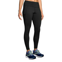 Brooks Womens Threshold Running Tight Black Sports Breathable Reflective