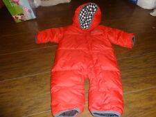 COLUMBIA 3-6 RED DUCK DOWN FILLED SNOWSUIT