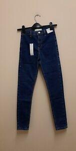 Topshop Joni super high waisted skinny Blue jeans size UK8 W26 L30 {R115}