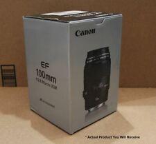 Canon 100mm Fast F/2.8 Macro USM Prime Lens - EF Mount - High Speed AF - Ex Demo