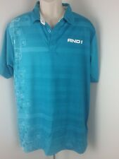 And1 Men Athletic Polo Shirt Short Sleeve Vented Back Blue Size L R5