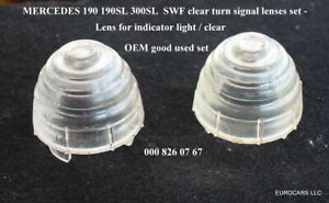 MERCEDES 190sl Clear Turn Signal Lens set  Porsche 356 Ponton 000 826 07 67 300S