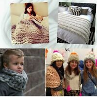 Acrylic Wool Super Thick Chunky Bulky Yarn DIY Hand Knitting Scarf Hat Dyed Yarn