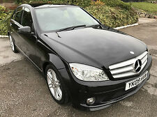 Mercedes-Benz C200 CDI 2009/09 AMG Sport,6 SPEED MANUAL,83000 MILES,FSH,BLACK