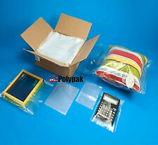 "100 8x24"" Clear Poly Bags 1-Mil Lay Flat Open Top End Long Plastic Packaging"