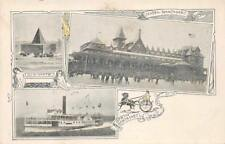 HOTEL NANTASKET Nix-Mate, Steamer Nantasket, MA ca 1907 Vintage Postcard
