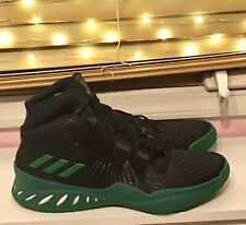 Adidas Crazy Explosive 2017 Basketball Shoes Sneakers Black / Green Mens Size 18