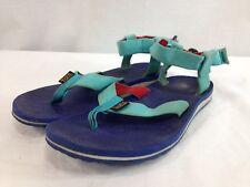 Teva 1003986 Sandals Shoes Women 7 Blue Purple Flip Flop Adjustable Ankle Strap
