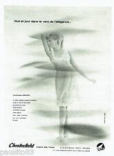 PUBLICITE ADVERTISING 096  1962   Chesterfield  lingerie bas tricots