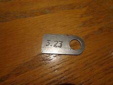 64-74 Mopar A B C E Body Cuda 8 3/4 Axle Ratio 3.23 Tag