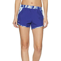 Under Armour Ua Heatgear Damen Fly Von Bedruckt Blau SPORTS Laufshorts