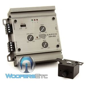 ZAPCO ASP-OE2 CAR OEM SIGNAL LEVEL CONVERTER 4 CHANNEL IN & OUT LINE DRIVER NEW