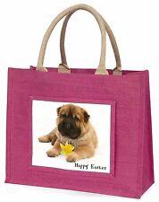 'Happy Easter' Shar-Pei Dog Large Pink Shopping Bag Christmas Pres, AD-SH2DA1BLP
