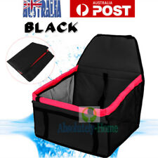 Pet Car Booster Seat Soft Safety Dog Cat Puppy Carrier Cage Travel Bag Black