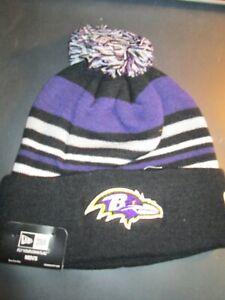 """BALTIMORE RAVENS"" NFL New Era ""Sport Knit Hat"" NWT Adult Size Fits Most $24.99"