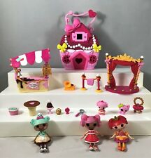 Mini Lalaloopsy Doll Figure Tinies Jewel Case House + more lot