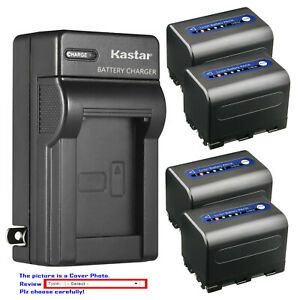 Kastar Battery AC Wall Charger for Sony NP-QM71D & Sony DCR-PC120 DCR-PC330