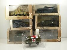 KAS10 LOT de 7 voitures MILITAIRES 1/43 collection cassés broken models