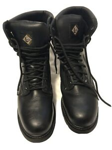 Lehigh Safety Boots 10 In Men's Oil Resistant Steel Toe Lace Up Work Shoes