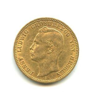 rare Allemagne , Hesse-Darmstadt , 20 Mark OR Ernst Ludwig 1901 A n°E2545