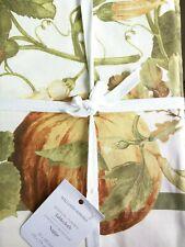 "Williams-Sonoma Botanical Pumpkin tablecloth 70x108"""