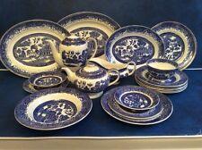 Colección Sauce Washington Staffordshire viejo 20 piezas